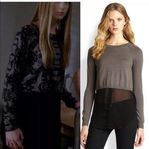 Addison • Rainey Layered Sweater Gray & Black M